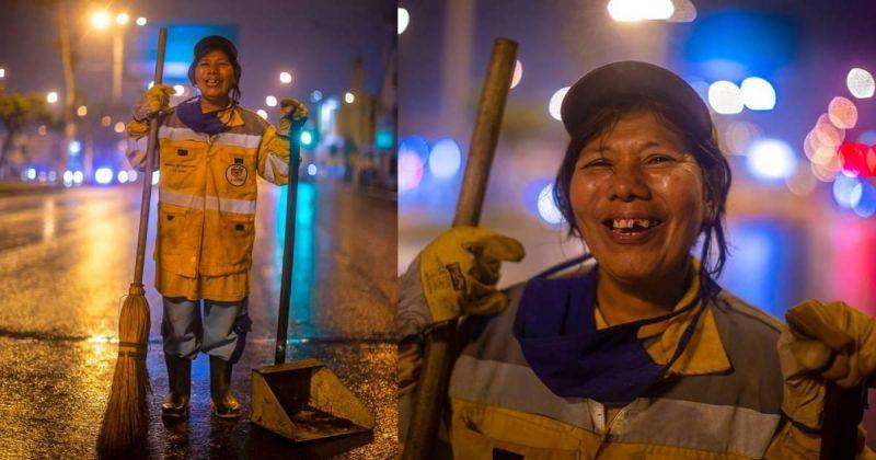 Photo of Il sorriso allegro di una madre che spazza la città per pagare gli studi di sua figlia