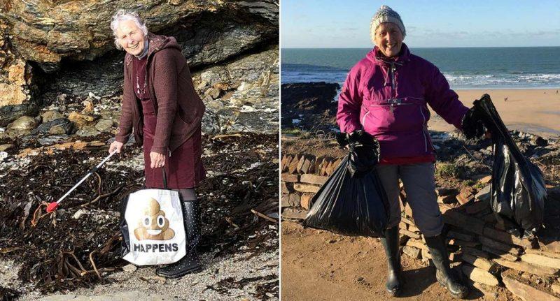 Donna di 70 anni pulisce 52 spiagge