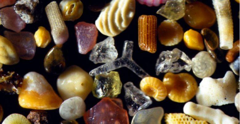 Granelli di sabbia ingranditi di 300 volte
