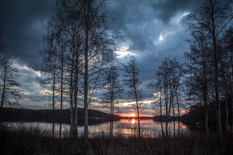 Tramonto in Finlandia