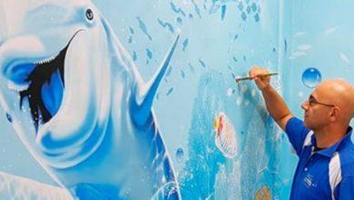 Photo of Un artista italiano dipinge sulle pareti tristi e grigie degli ospedali magnifici acquari