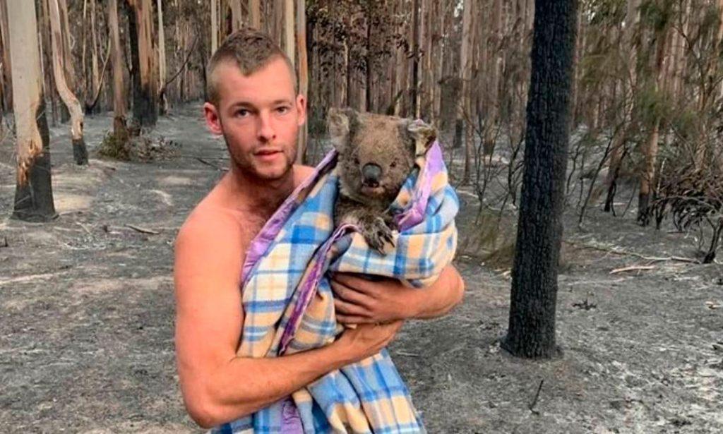 Cacciatore in Australia rischia la vita per salvare i koala