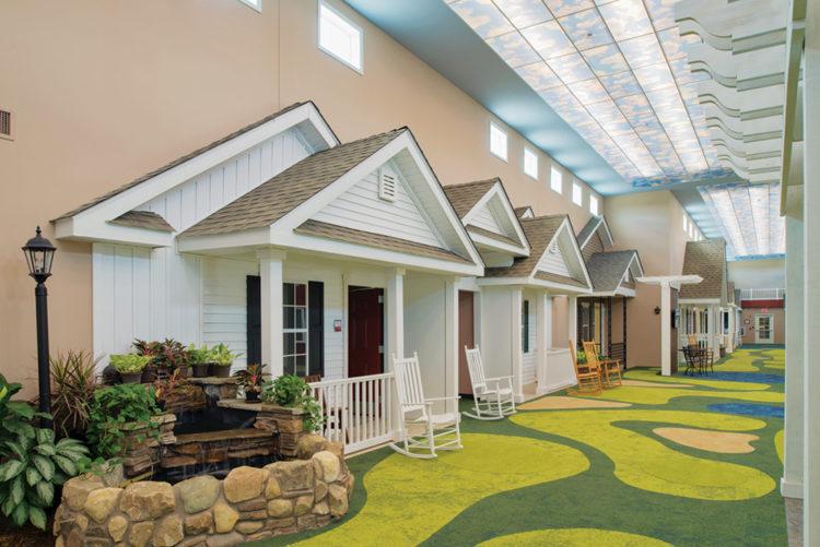 Converte le stanze di una casa di riposo in casette di quartiere