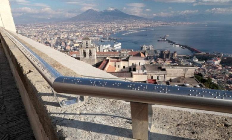 Corrimano per non vedenti, Napoli
