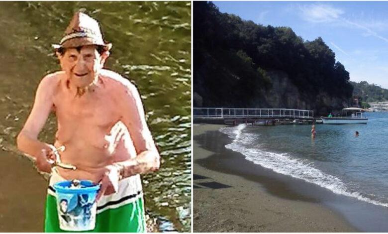 Vittorio, il pensionato che ripulisce la spiaggia della sua città