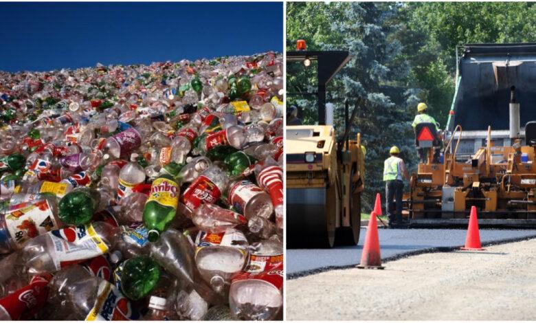 Azienda costruisce strade con bottiglie di plastica