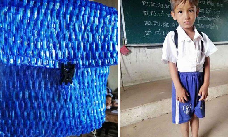 L'insegnante condivide le foto dello zaino di un alunno