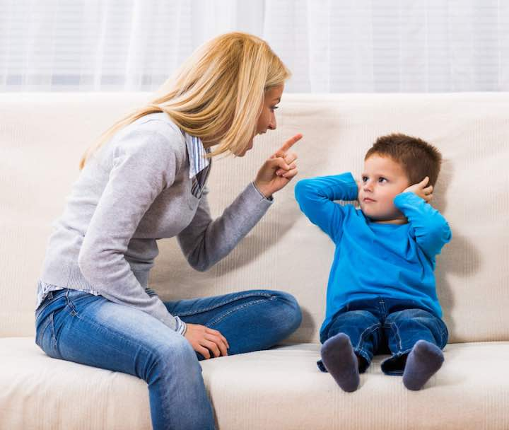 Non rimproverare un figlio