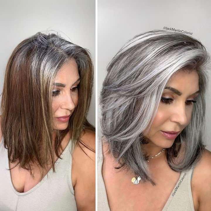Coprire i capelli grigi parrucchiere clienti