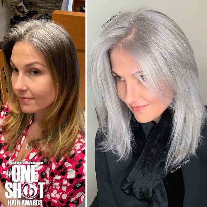 I capelli grigi parrucchiere clienti