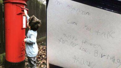 """Photo of Un bambino manda una lettera a suo padre in paradiso, le poste britanniche gli comunicano di aver """"recapitato"""" la missiva"""