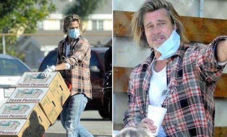 Brad Pitt fa il volontario