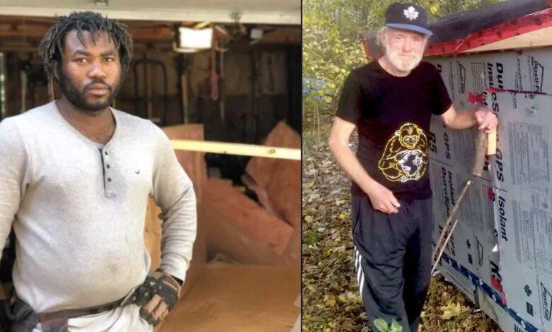 falegname costruisce casette per senzatetto