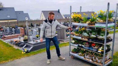 Photo of Dona i fiori invenduti a causa del Covid al cimitero della sua città per abbellire le tombe: il gesto del fioraio commuove il web