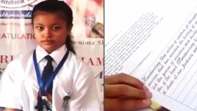 """Photo of L'elegante calligrafia di una ragazza di 14 anni ha conquistato il titolo di """"migliore al mondo"""""""