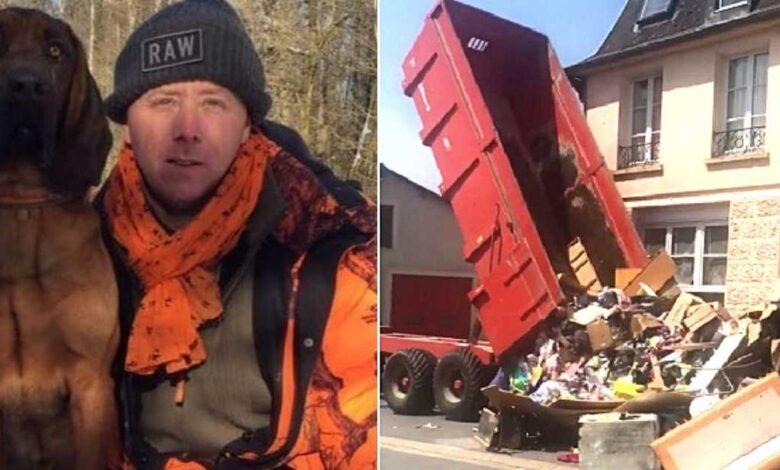 inquilini lasciano la casa piena di spazzatura