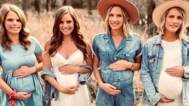 Photo of Quattro sorelle rimaste incinte nello stesso periodo partoriranno i loro figli a pochi mesi di distanza: un'incredibile coincidenza