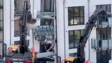 """Photo of Un appaltatore distrugge un edificio di nuova costruzione: """"Non ho ricevuto il pagamento per i lavori eseguiti"""" è la sua motivazione"""