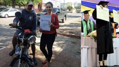 Photo of Si laurea e regala una moto al patrigno che le ha pagato gli studi lavorando come calzolaio: la storia diventa virale e commuove il web
